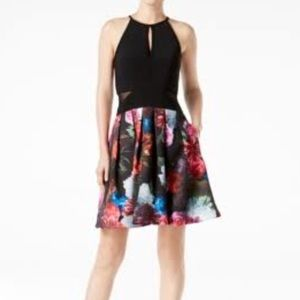 Xscape fit and flare halter dress.